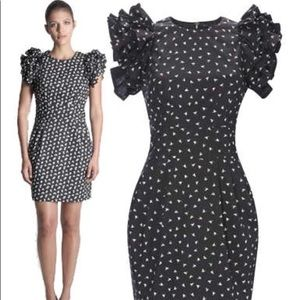 FRENCH CONNECTION Dandy Voile Ruffle Sleeve Dress